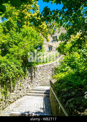 Stairway to the Upper Town of Bregenz, Austria - Stock Photo