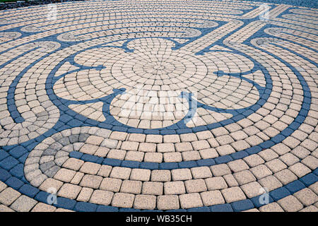 A Chartres Replica (medieval) style stone labyrinth located at the Western PA Conference United Methodist Church in Cranberry Township, Pennsylvania