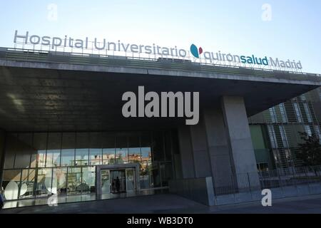 Madrid, Spain. 24th Aug, 2019. Quirón de Pozuelo de Alarcón clinic, Madrid, to undergo a Heart operation in Madrid on Friday 23 August 2019 Credit: CORDON PRESS/Alamy Live News - Stock Photo