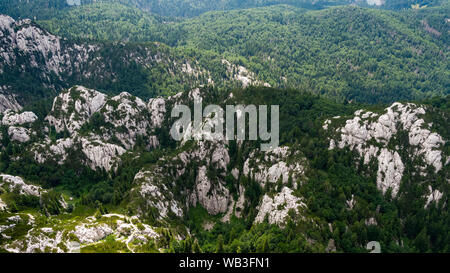 Aerial scene of Velebit Mountain in Croatia - Stock Photo