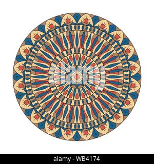 Circular ornament. The combination of geometry and hand drawn patterns. Decorative elements. Logo. - Stock Photo