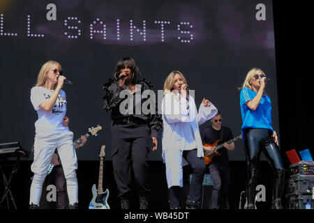 Portsmouth, Hampshire, UK. August 24th 2019. British female vocal band All Saints performing live on stage at Victorious Festival, Southsea, Portsmouth, Hampshire, UK Credit: Dawn Fletcher-Park/Alamy Live News - Stock Photo