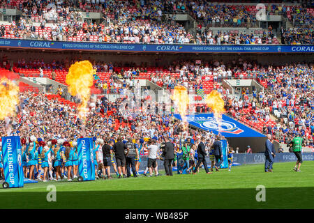 London, UK. 24th Aug 2019. St Helens v Warrington Wolves Coral Challenge Cup Final 2019 at Wembley Stadium Credit: John Hopkins/Alamy Live News - Stock Photo