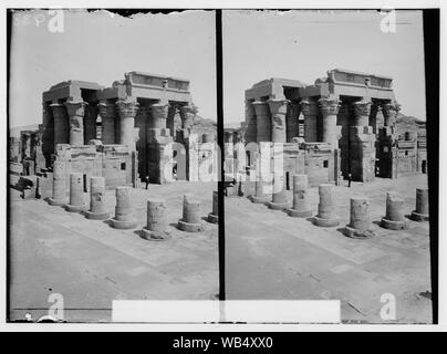 Egyptian views; Kom-Ombo. Temple of Sobk and Horoeris Abstract/medium: G. Eric and Edith Matson Photograph Collection - Stock Photo