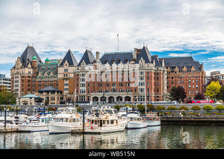 VICTORIA, BRITISH COLUMBIA - May 18, 2017: Victoria is the capital city of the Canadian province of British Columbia, located on the southern tip of V - Stock Photo