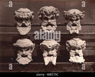 Durandelle - Ornamental Sculpture of the New Paris Opera - Masques du Vestibule du Contrôle. - Stock Photo
