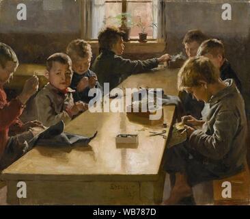'The Boys' Workhouse, Helsinki' by Finnish artist Albert Edelfelt, 1885.