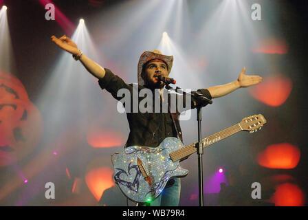 Rio de Janeiro, Brazil, November 4, 2011. Singer Luciano, during a show at the HSBC Arena in the city of Rio de Janeiro - Stock Photo