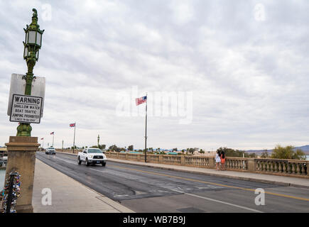 Arizona, America, 8th, March, 2018. View of London Bridge in Lake Havasu City. It was built in the 1830s and formerly spanned the River Thames in Lond - Stock Photo