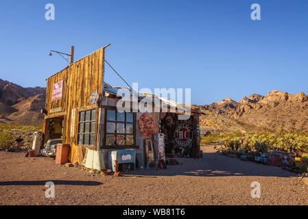 Nelson ghost town located in the El Dorado Canyon near Las Vegas, Nevada - Stock Photo