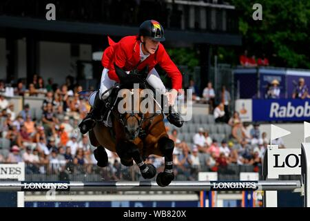 Rotterdam, Netherlands. 23rd August, 2019.Marcus Ehning GER with Comme Il Faut during the Longines FEI Jumping European Championship 2019 on August 23 2019 in Rotterdam, Netherlands.  (Photo by Sander Chamid/SCS/AFLO (HOLLAND OUT)/AFLO (HOLLAND OUT) Credit: Aflo Co. Ltd./Alamy Live News - Stock Photo