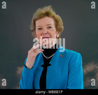 Edinburgh, Scotland, UK. 25th Aug, 2019. Mary Robinson. Mary Robinson's book Climate Justice describes the people working to overcome the threat of climate change. Credit: Iain Masterton/Alamy Live News - Stock Photo