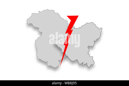 Jammu and Kashmir special status, Decoding Article 35A and Article 370 - Stock Photo
