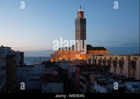 The most famous and impressive building in Casablanca - Mosque Hassan-II.