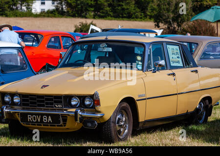 Rover 3500 V8 on display at the Hellingly Festival of Transport show. - Stock Photo