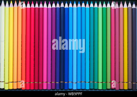 A box of 36 colouring pencils. The good kind. German made. - Stock Photo