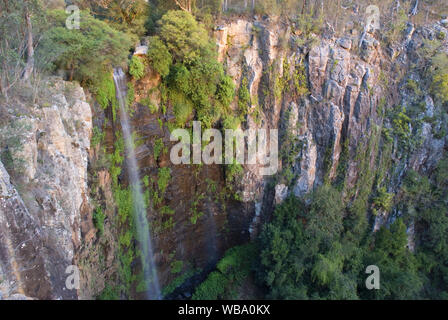 Queen Mary Falls (40 m), on Spring Creek, a tributary of the Condamine River. Main Range National Park, near Killarney, Darling Downs, Queensland, Aus - Stock Photo