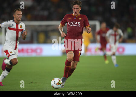 Rome, Italy. 26th Aug, 2019. Rome, Italy - August 25, 2019: Nicolò Zaniolo (AS ROMA) in action during the Serie A soccer match between AS ROMA and GENOA FC, at Olympic Stadium in Rome. Credit: Independent Photo Agency/Alamy Live News - Stock Photo