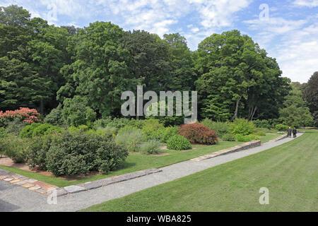 Beautiful landscape in Arnold Arboretum of Harvard University, Boston, Massachusetts - Stock Photo