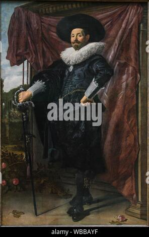 'Portrait of Willem van Heythuysen', 1625, by Frans Hals (1582/83-1666) - Stock Photo