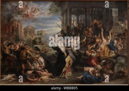 'The Massacre of the Innocents', 1638, by Peter Paul Rubens (1577-1640) - Stock Photo