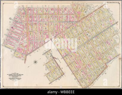 Double Page Plate No. 32: [Bounded by Marcy Ave., Metropolitan Ave., N. Fifth St., Havemeyer St., Withers St., Union Ave., Richardson St., Leonard - Stock Photo