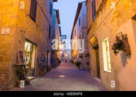 Pienza Orcia valley Tuscany on July 6, 2019 Italy. - Stock Photo