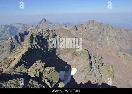 Paglia Orba northface from Monte Cinto, France, Corsica - Stock Photo