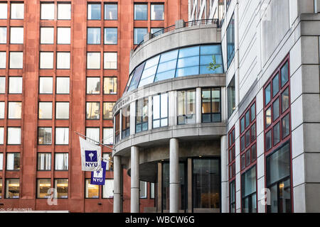NEW YORK CITY - AUGUST 24, 2019: View of the NYU Stern School of Business at New York University in Manhattan NYC. - Stock Photo