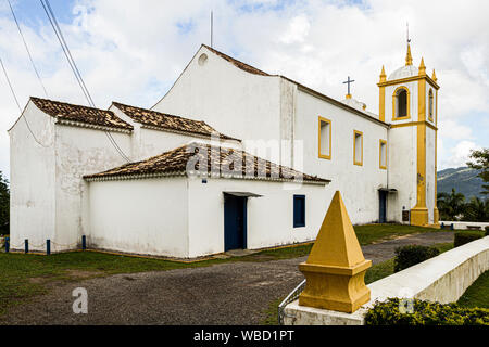 Back of Nossa Senhora da Imaculada Conceicao Church, at Lagoa da Conceicao neighborhood. Florianopolis, Santa Catarina, Brazil. - Stock Photo