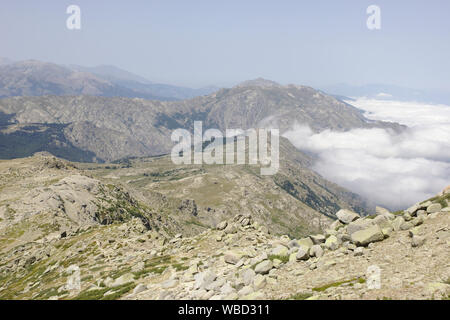 View North from Monte Incudine, France, Corsica, GR20 - Stock Photo