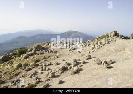 Summit of Monte Incudine, France, Corsica, GR20 - Stock Photo