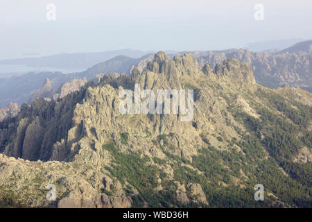 Bavella, view from Monte Incudine, France, Corsica, GR20 - Stock Photo