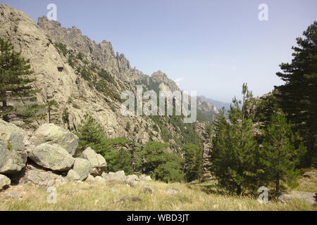 Aiguilles de Bavella, France, Corsica, alpine variation of GR20 - Stock Photo