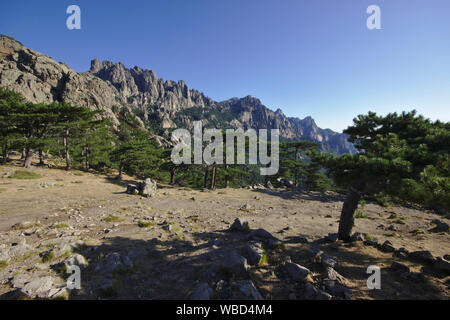 View from Col de Bavella, France, Corsica, GR20 - Stock Photo