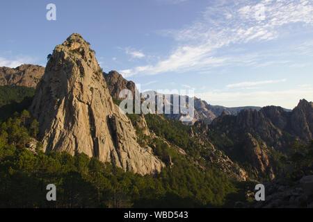 GR20 near Bocca di Monte Bracciutu, France, Corsica, GR20 - Stock Photo