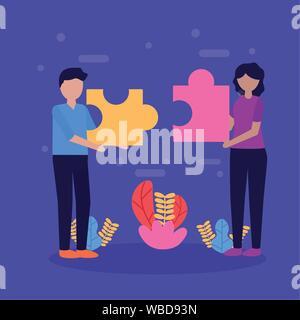 people teamwork flat design image