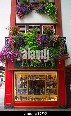 Tax free shopping in Andorra La Vella. - Stock Photo