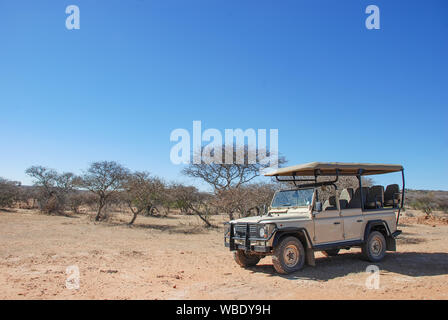 A safari vehicle in South Africa - Stock Photo
