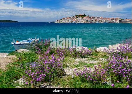 Europe, European, Croatia,Adriatic Sea, Primosten - Stock Photo