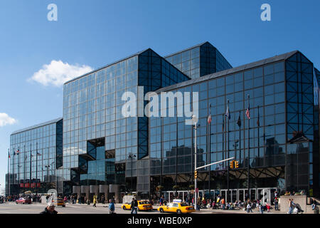 Jacob Javits Convention Center by I M Pei west side Eleventh Avenue Manhattan New York City - Stock Photo