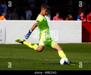 London, UK. 26th Aug, 2019. LONDON, ENGLAND. AUGUST 26: Marcin Brzozowski of Yeovil Town during National League match between Dagenham and Redbridge FC and Yeovil Town at The Chigwell Construction Stadium in London, England on August 26, 2019 Credit: Action Foto Sport/Alamy Live News - Stock Photo