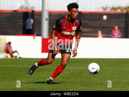 London, UK. 26th Aug, 2019. LONDON, ENGLAND. AUGUST 26: Remeao Hutton of Yeovil Town during National League match between Dagenham and Redbridge FC and Yeovil Town at The Chigwell Construction Stadium in London, England on August 26, 2019 Credit: Action Foto Sport/Alamy Live News - Stock Photo