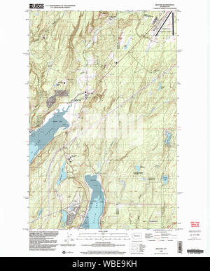 USGS Topo Map Washington State belfair wa histmap Restoration - Stock Photo