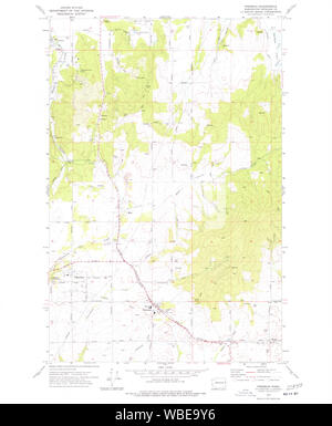 USGS Topo Map Washington State freeman wa histmap Restoration - Stock Photo