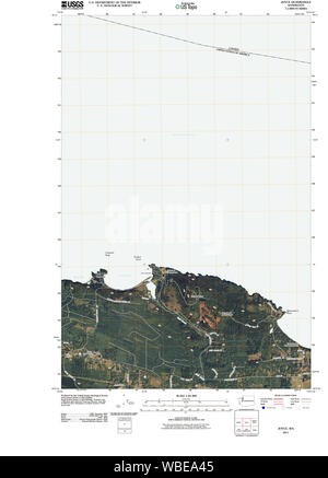 USGS Topo Map Washington State joyce wa tnm Restoration - Stock Photo