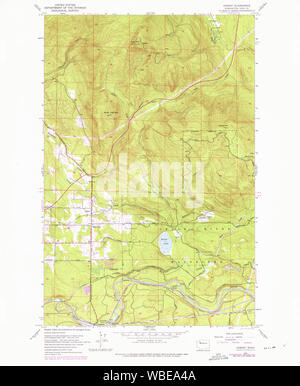 USGS Topo Map Washington State hobart wa histmap Restoration - Stock Photo