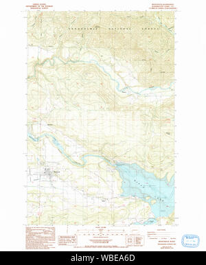 USGS Topo Map Washington State mossyrock wa histmap Restoration - Stock Photo