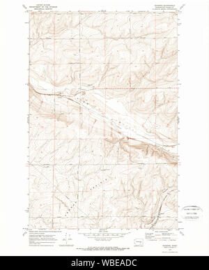 USGS Topo Map Washington State roxboro wa histmap Restoration - Stock Photo