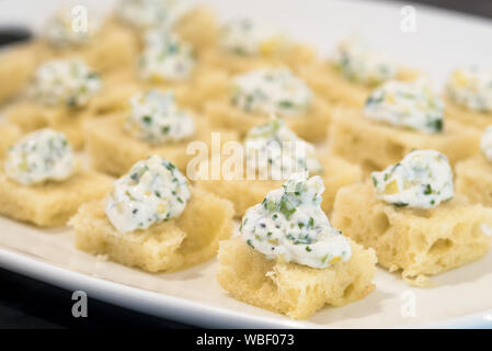 Appetizers at the Minam River Lodge in Oregon's Wallowa Mountains. - Stock Photo